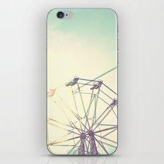 retro ferriswheel iPhone & iPod Skin