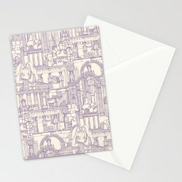 Ancient Greece purple pearl Stationery Cards