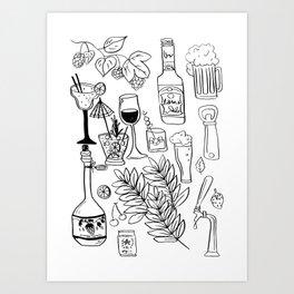 Alcohol Doodles Art Print