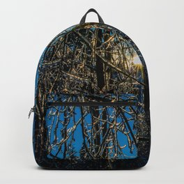Frozen ice trees Backpack