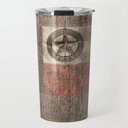 Lone Star State #Texas #woodbackground Travel Mug