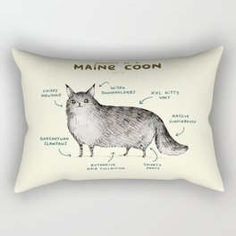 Anatomy of a Maine Coon Rectangular Pillow