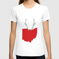 ohio state T-shirts featuring Ohio Bucks by BradBrunstetter