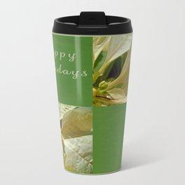 Pale Yellow Poinsettia 1 Happy Holidays Q5F1 Travel Mug