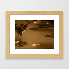 Quiet Evening Out Framed Art Print
