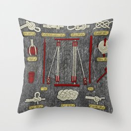 Seaman knots Throw Pillow
