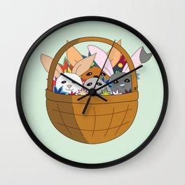 Bunny basket Wall Clock