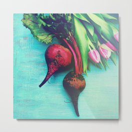 The Beet Goes On - Red Beet Metal Print