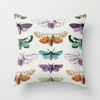 techno Throw Pillows featuring Techno-Moth Collection by Zeke Tucker