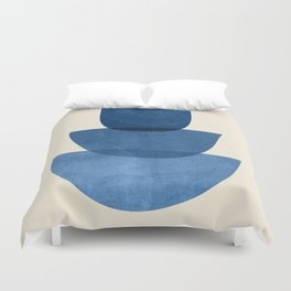 Abstract Shapes 37-Blue Duvet Cover