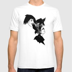 Freedom for my crows... SMALL White Mens Fitted Tee