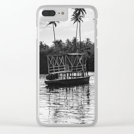 Transport of people on the Imbassaí River, Bahia - Brazil. Clear iPhone Case