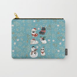 Christmas French Bulldog Carry-All Pouch