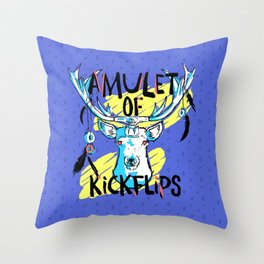 Amulet of Kickflips Throw Pillow