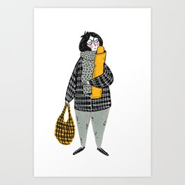 Moments in New York: Love Baguette Art Print