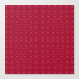 Retro 1970s Inspired Psychedelic Red Geometric Diamond Pattern Canvas Print