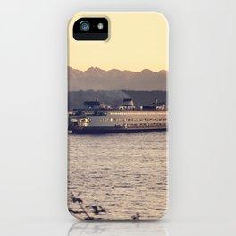 Puget Sound Ferry iPhone Case