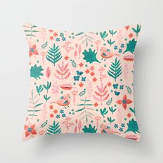 Pink Nature Throw Pillow