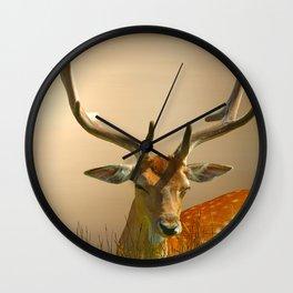 Golden Fallow Wall Clock