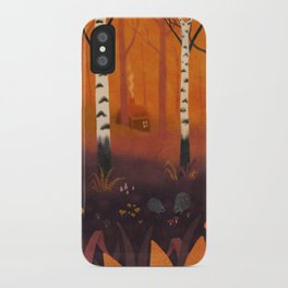 Hedgehog Forest iPhone Case