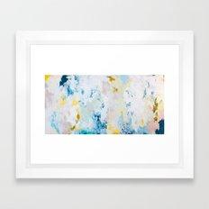 Pura White Framed Art Print