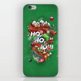 Merry Xmas Green iPhone Skin