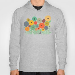 Cat in flower garden Hoody