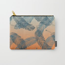 Blue Feathers Pattern Carry-All Pouch