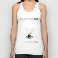 coffe Tank Tops featuring Paragliding: take a coffe! I love thermal by Blinding Room Art