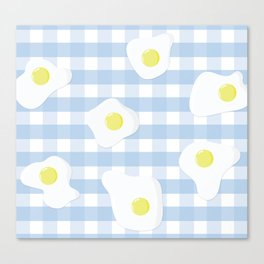 Sunny Side Up + Gingham Canvas Print