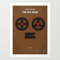 No380 My The Evil Dead minimal movie poster Art Print