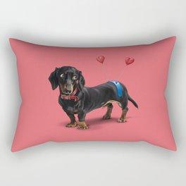 Butt (Colour) Rectangular Pillow