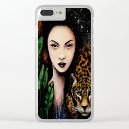 Fierce Beauty Clear iPhone Case
