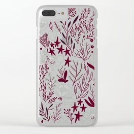 Burgundian winter holiday mood. Clear iPhone Case