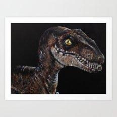 Velociraptor Art Print
