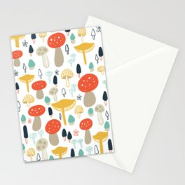 Forest Mushrooms Stationery Cards