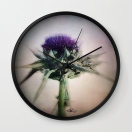 """""""wild flower i am ... in sinister worlds"""" Wall Clock"""