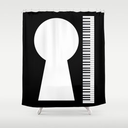 Piano Keyhole Musical Copy Space Shower Curtain