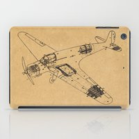 airplane iPad Cases featuring Airplane diagram by marcusmelton