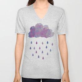 Prismatic Rain Clouds Unisex V-Neck