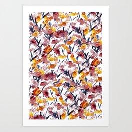 new floral Art Print