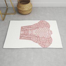 Pink mandala elephant Rug
