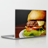 hamburger Laptop & iPad Skins featuring Hamburger by Mauricio Togawa