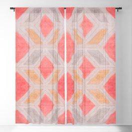 Boho Harlequin Pattern Blackout Curtain