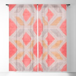 Boho Harlequin Pattern Blackout Curtain