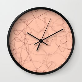 Milky cocoa smoke lines minimalist design Wall Clock