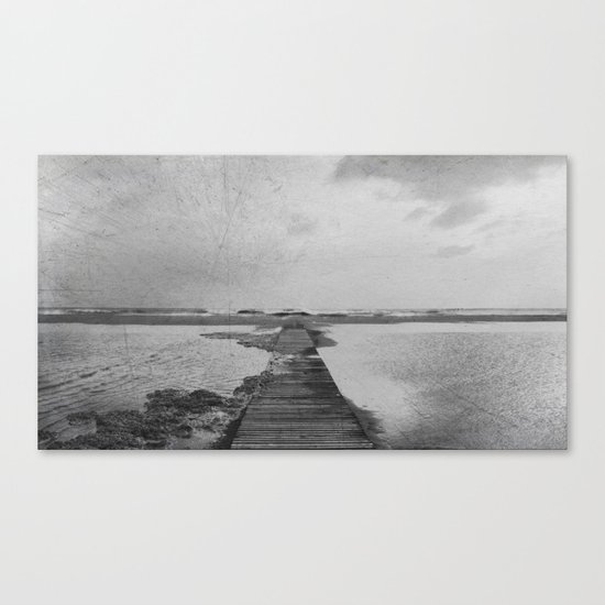 Storm in the beach Canvas Print