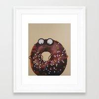 doughnut Framed Art Prints featuring Doughnut by Neislotova
