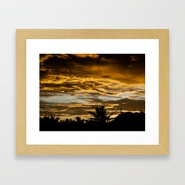 Colorful End of the Day Framed Art Print