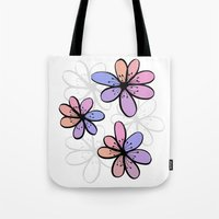 cherry blossoms Tote Bags featuring Cherry Blossoms by Kara Peters